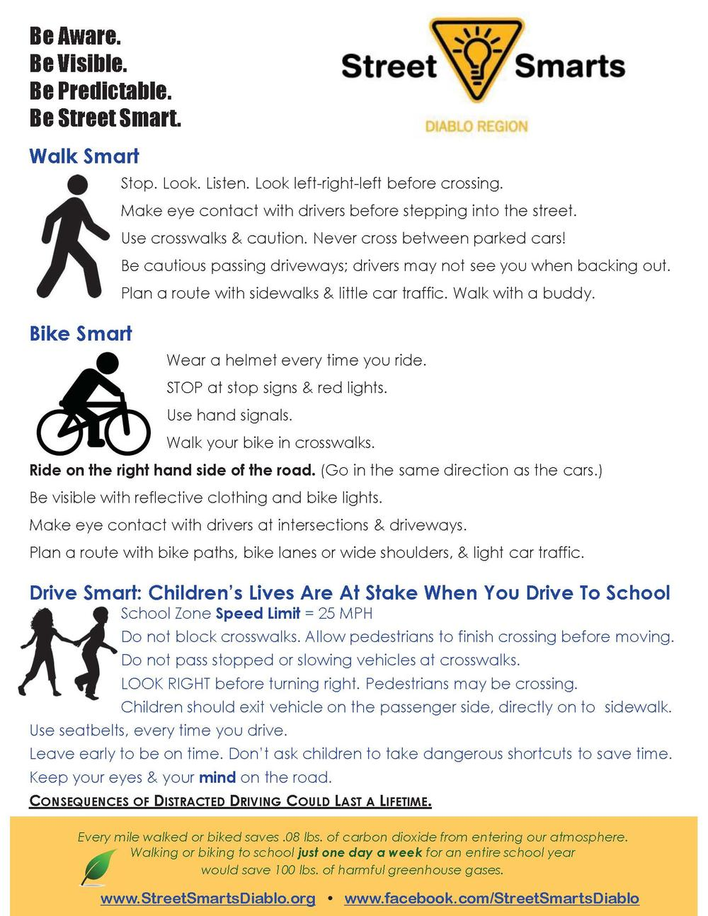 Street Smarts guidelines